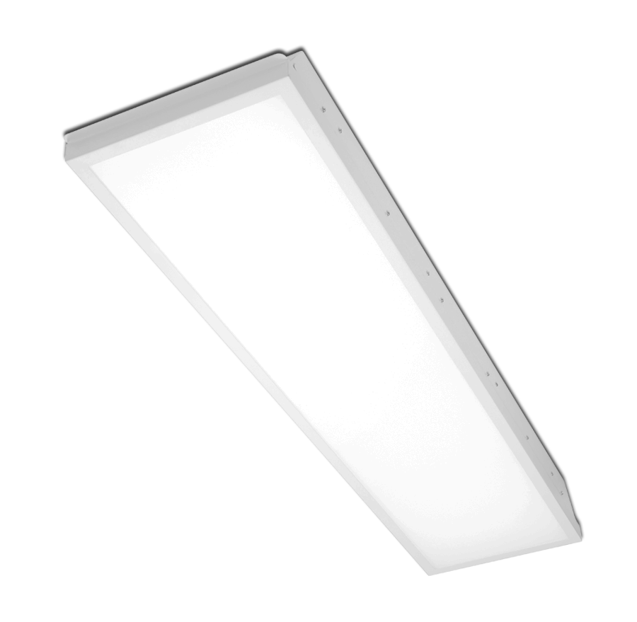 Recessed LED light fitting.