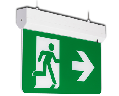 Suspended emergency exit sign